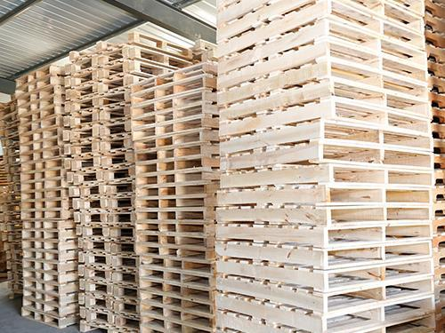 Fumigation wooden pallet warehouse